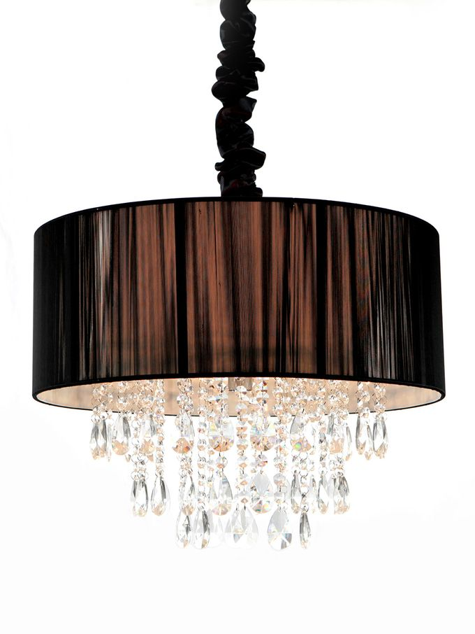 Silk and Crystal Hanging Fixture from Our Favorite Chandeliers on Gilt