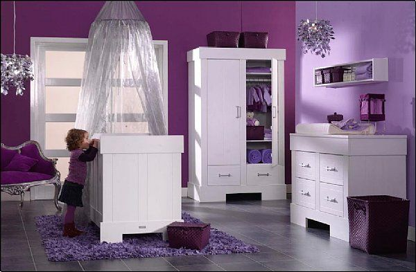 modèle deco chambre bebe fille violet Kids rooms, Nursery and Room
