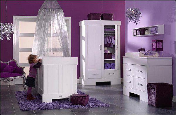 modèle deco chambre bebe fille violet | Bébé - filles, Chambre bébé ...