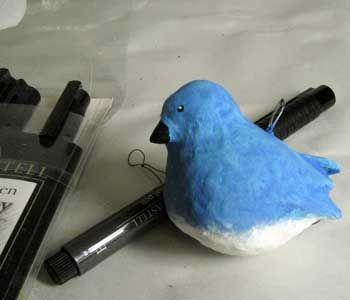 Bluebird Paper mache Tutorial   Craft Ideas   Paper mache
