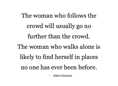Alone does not mean lonely.