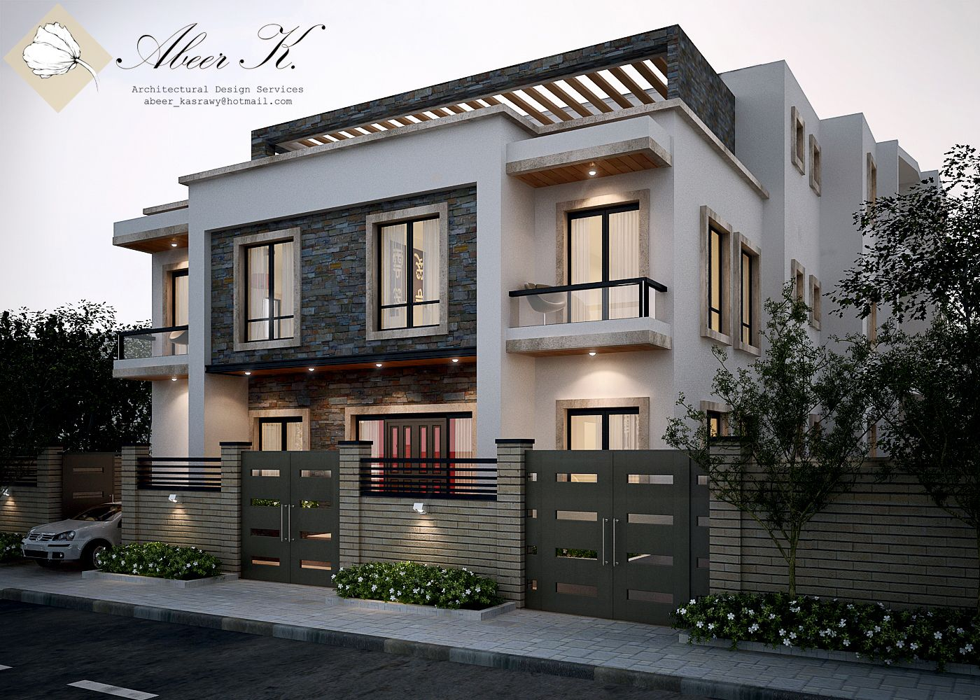 New cairo 39 s villa exterior by on for Exterior house facade ideas