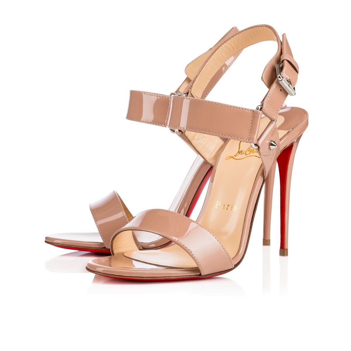 2abb7efa0dd CHRISTIAN LOUBOUTIN Sova Heel 100Mm Nude Patent Leather.  christianlouboutin   shoes