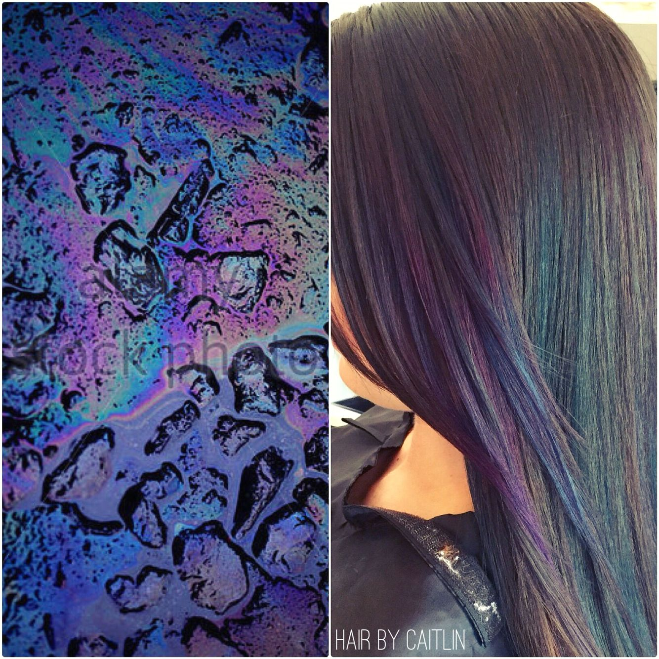 Oil slick hair color. Subtle oil slick. | Natural Hair