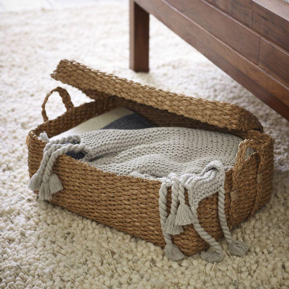 Home underbed storage baskets wicker underbed storage basket - Explore Under Bed Storage Bins And More Braided Storage Bin With Lid