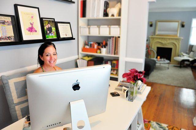 Rebecca S Loving Living Small Home Office Home Office Tour Small Home Office Office Design Diy Home Office Design