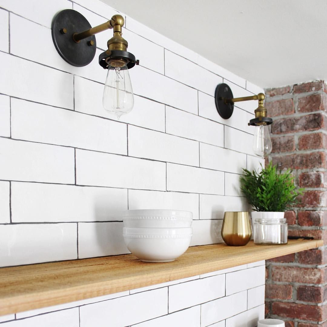 Irregular edges on subway tile with dark grout mountain shadows irregular edges on subway tile with dark grout dailygadgetfo Gallery