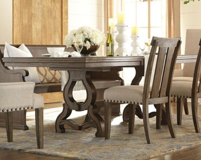 Wendota Dining Room Table, by Ashley HomeStore, Grayish ...