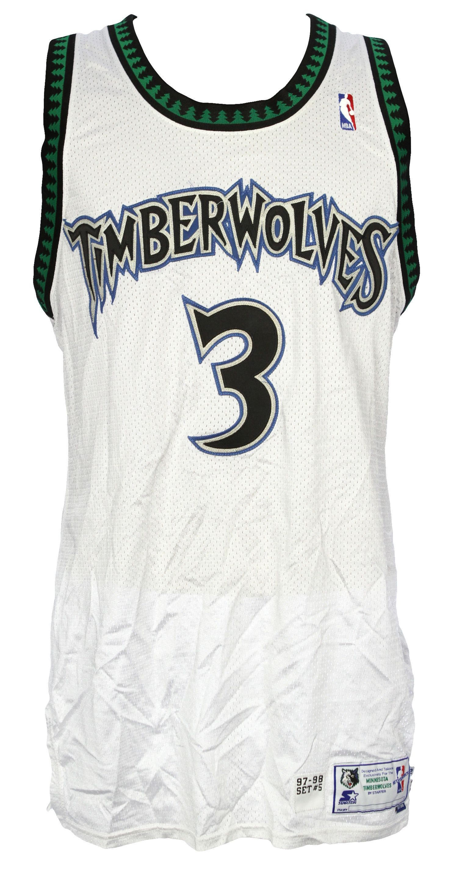 Offered is a Minnesota Timberwolves home jersey dating to Stephon Marbury s  1997-98 season with the team. Description from  sports.mearsonlineauctions.com. 327698b90