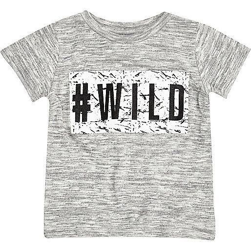 Mini boys wild print t-shirt