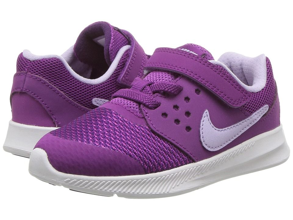 b8b32ea23ab5 Nike Kids Downshifter 7 (Infant Toddler) Girls Shoes Night Purple Violet  Mist Bold Berry