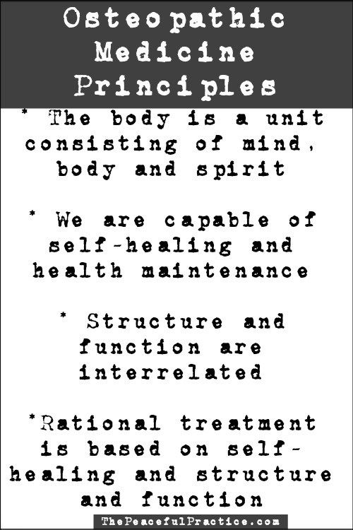 The principles of osteopathic medicine #