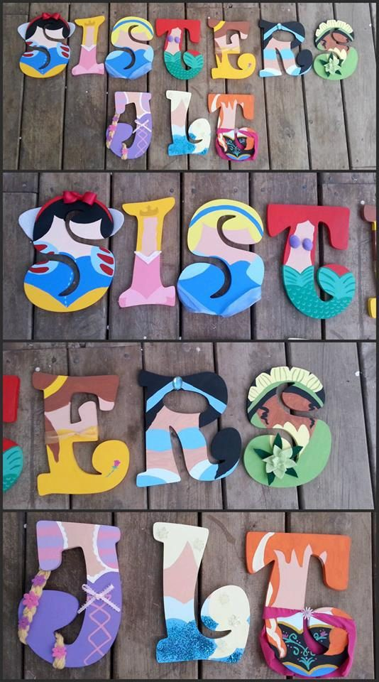 Hand Painted Letters In Custom Princess Inspired By Slgpaints Decor Pinterest Painted