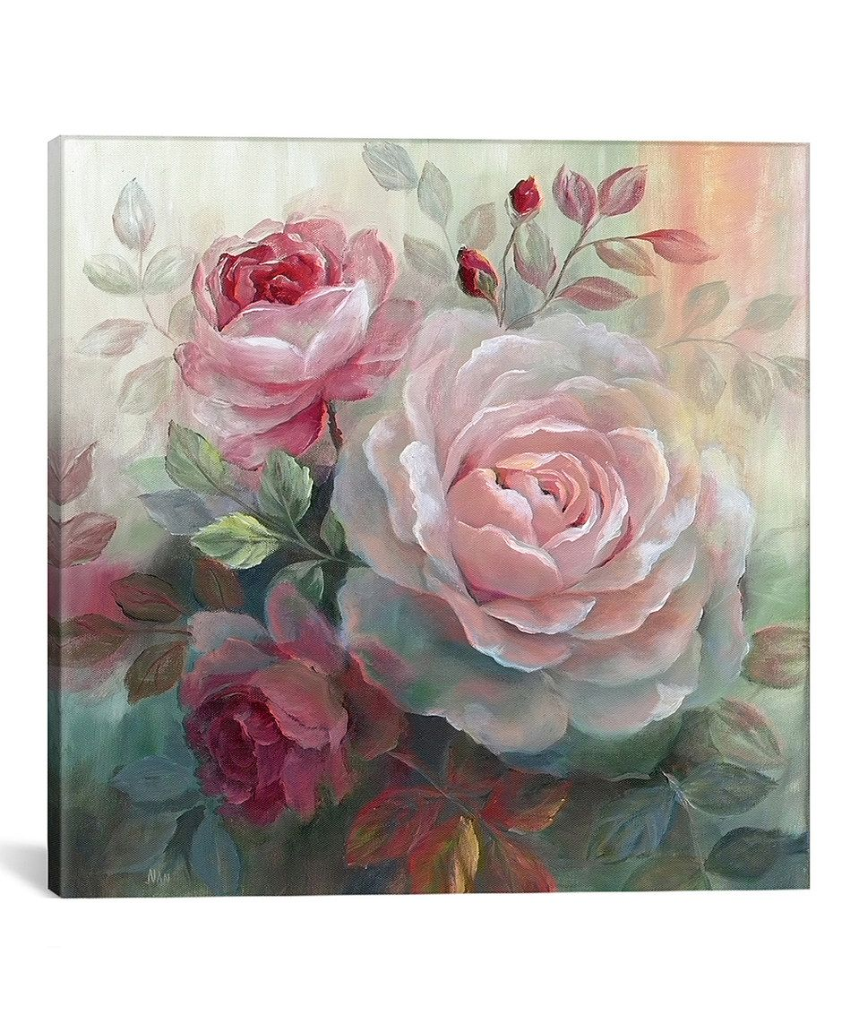 Loving this White Roses II Wrapped Canvas on #zulily! #zulilyfinds