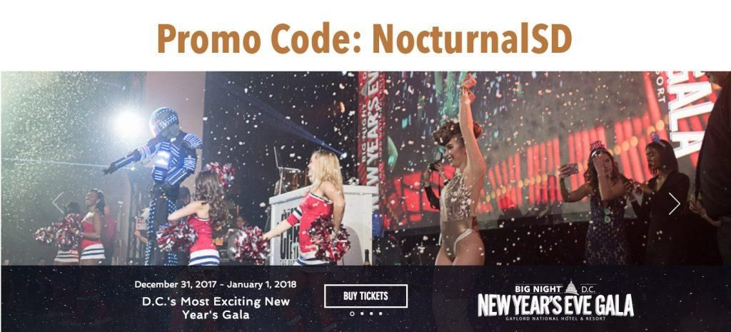 NYE Gala 2018 Washington DC Discount Promo Code Big Night