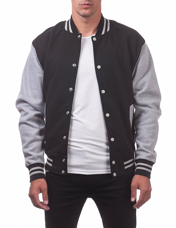 Men S Clothing Jackets Coats Lightweight Jackets Men S Varsity Fleece Baseball Jacket Baseball Jacket Outfit Fleece Baseball Jacket Varsity Jacket Outfit
