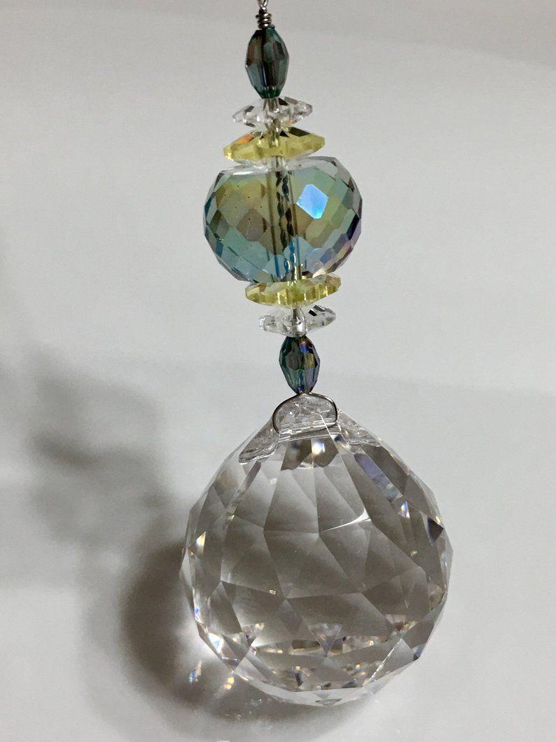 Sun Catcher Crystal Prism Hanging Ornament Teardrop Crystal Gift
