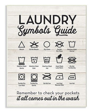 Laundry Symbols Wall Art New Another Great Find On Zulily 'laundry Symbols Guide' Wall Art Design Decoration