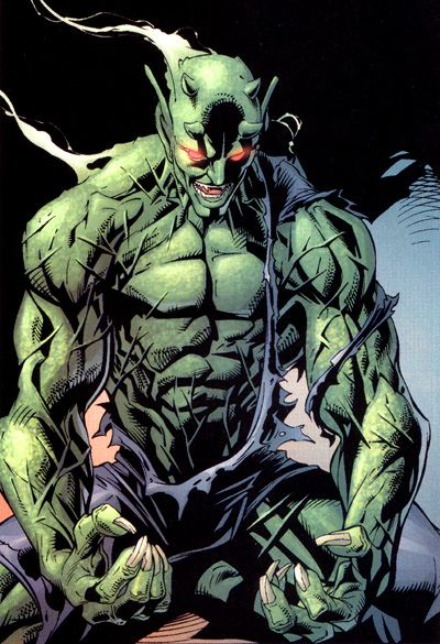 Green Goblin: (Norman Osborn) Insane, malevolent, industrialist responsible for Peter Parker's mutation; only to become Spiderman's arch enemy.