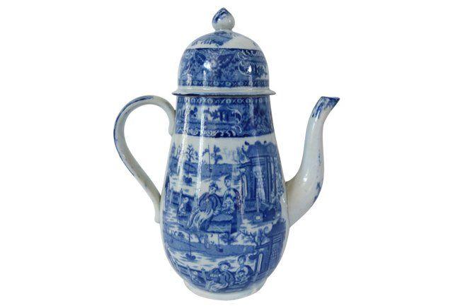 English Staffordshire Coffee Pot, 1820s