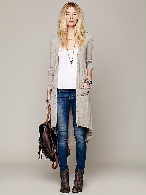 Ribbed Up Maxi Cardigan by Free People