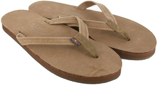 Women's Premier Leather Narrow Strap Sandals | Rainbow