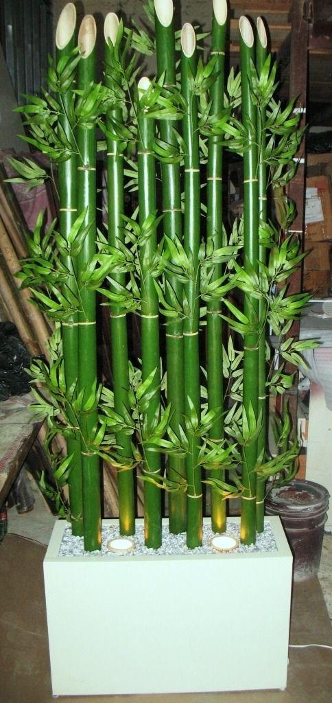 Bambu con luz montado en maceta de madera mlm f 80104100 - Maceta de madera ...