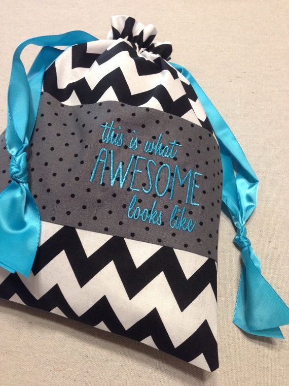 Item A2 Personalized Gymnastics Grip Bag Awesome Looks Like Aqua Chevron
