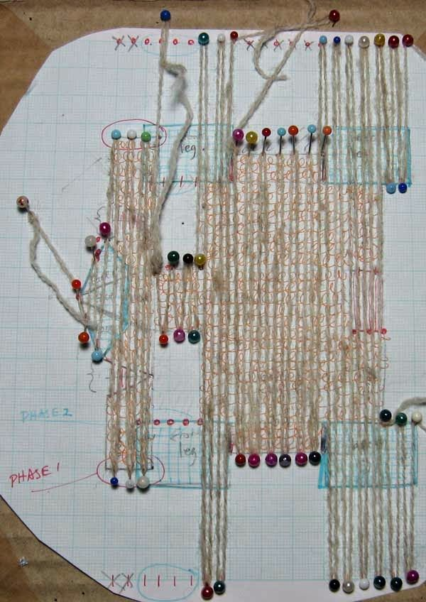 Ruth's weaving projects: All-in-one-piece sheep experiment