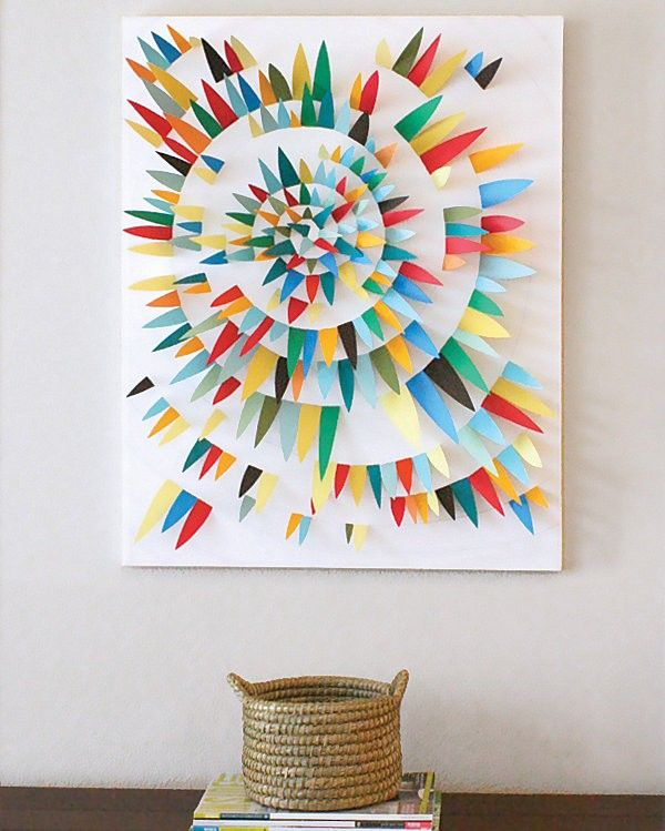 33 Creative 3d Wall Art Projects Meant To Beautify Your Space Through Color Texture And Volume Paper Wall Art Wall Art Tutorial Unique Wall Art