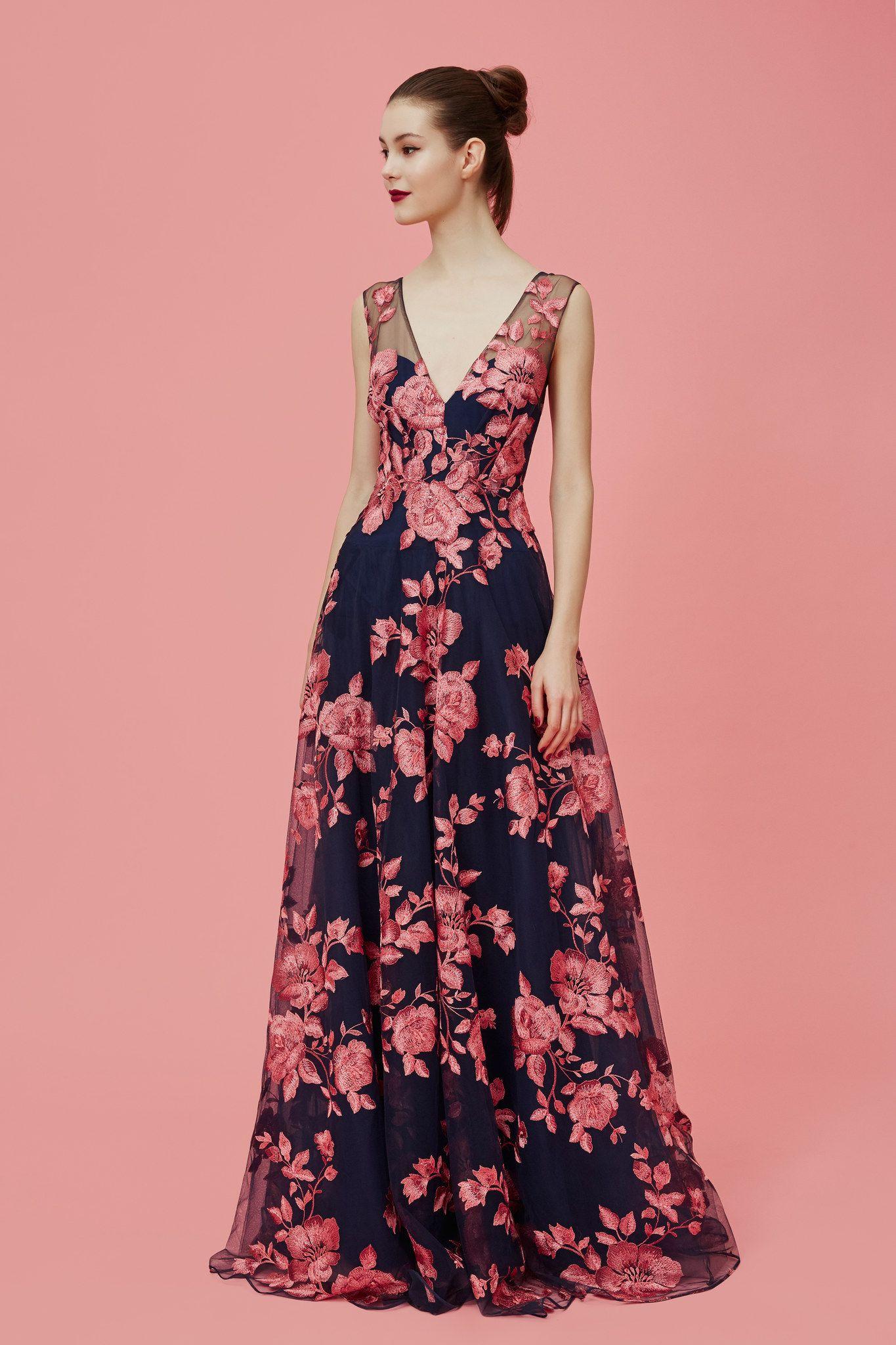 Marchesa Notte Pre-Fall 2016 Fashion Show | Vestiditos, Vestidos de ...