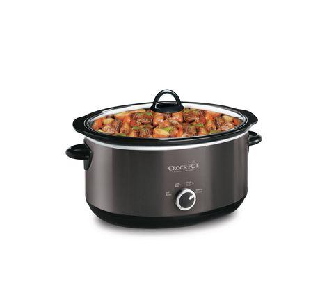 Crock Pot 6 Qt Manual Slow Cooker Black Slow Cooker Crock Pot