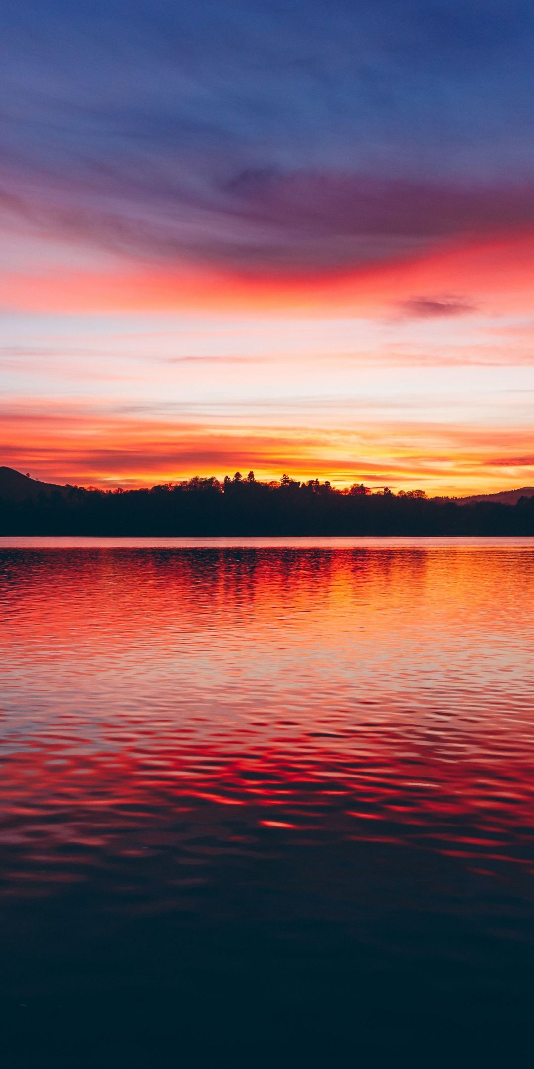 Lake Sunset Horizon Beautiful 1080x2160 Wallpaper 風景