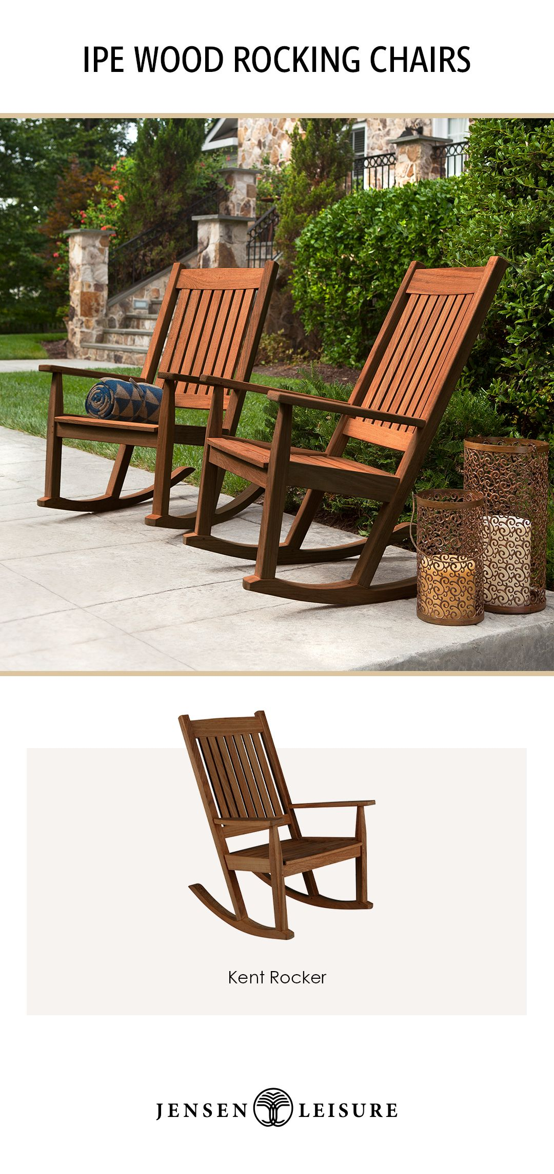 Ipe Wood Kent Rocker From Jensen Leisure Backyard Patio Designs Patio Design Backyard Patio Deck