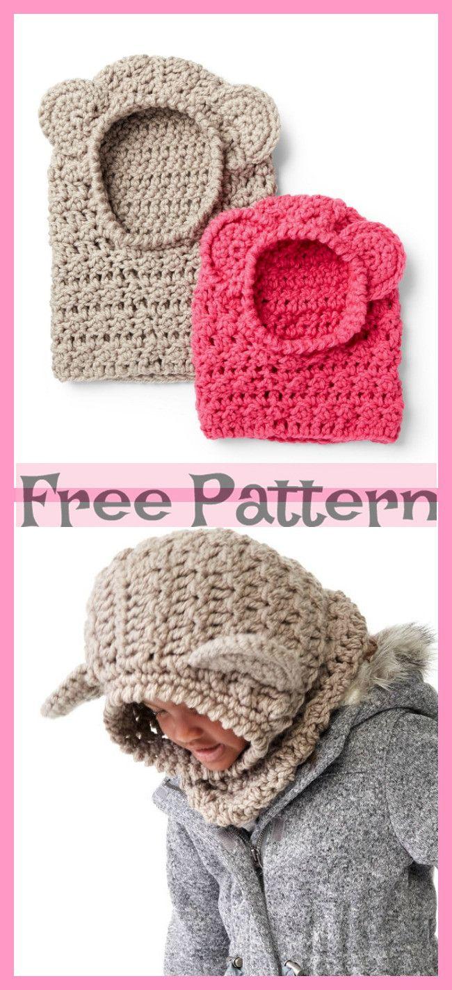 Cute Crochet Bear Hoods - Free Pattern #crochetbear