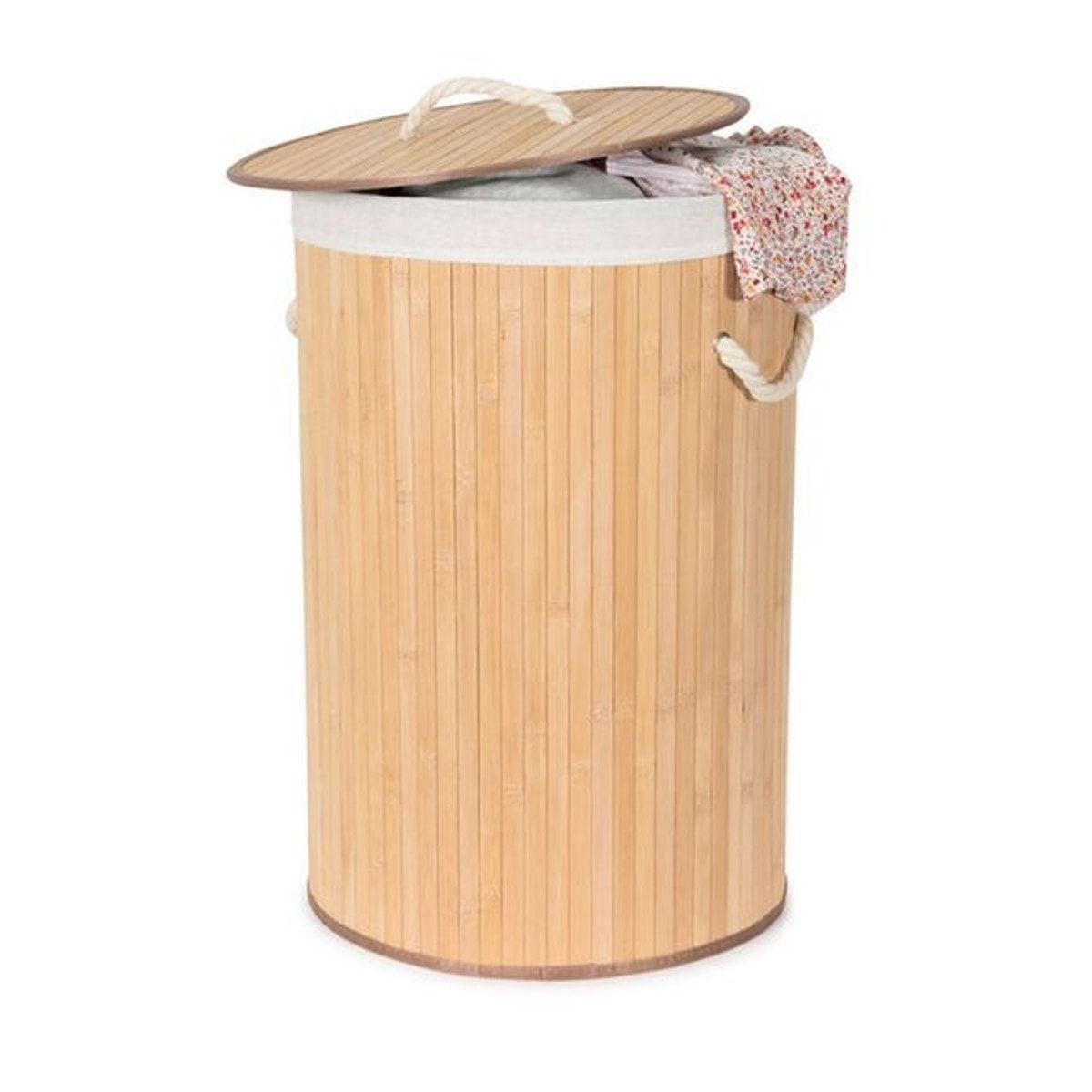 Panier À Linge Original panier À linge rond « bambou » - taille : taille unique