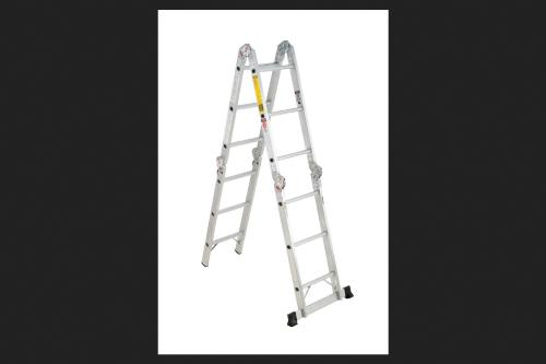Werner Aluminum 12 Ft H Articulating Ladder 300 Lb Type Ia Multi Ladder Ladder Articulating Ladder