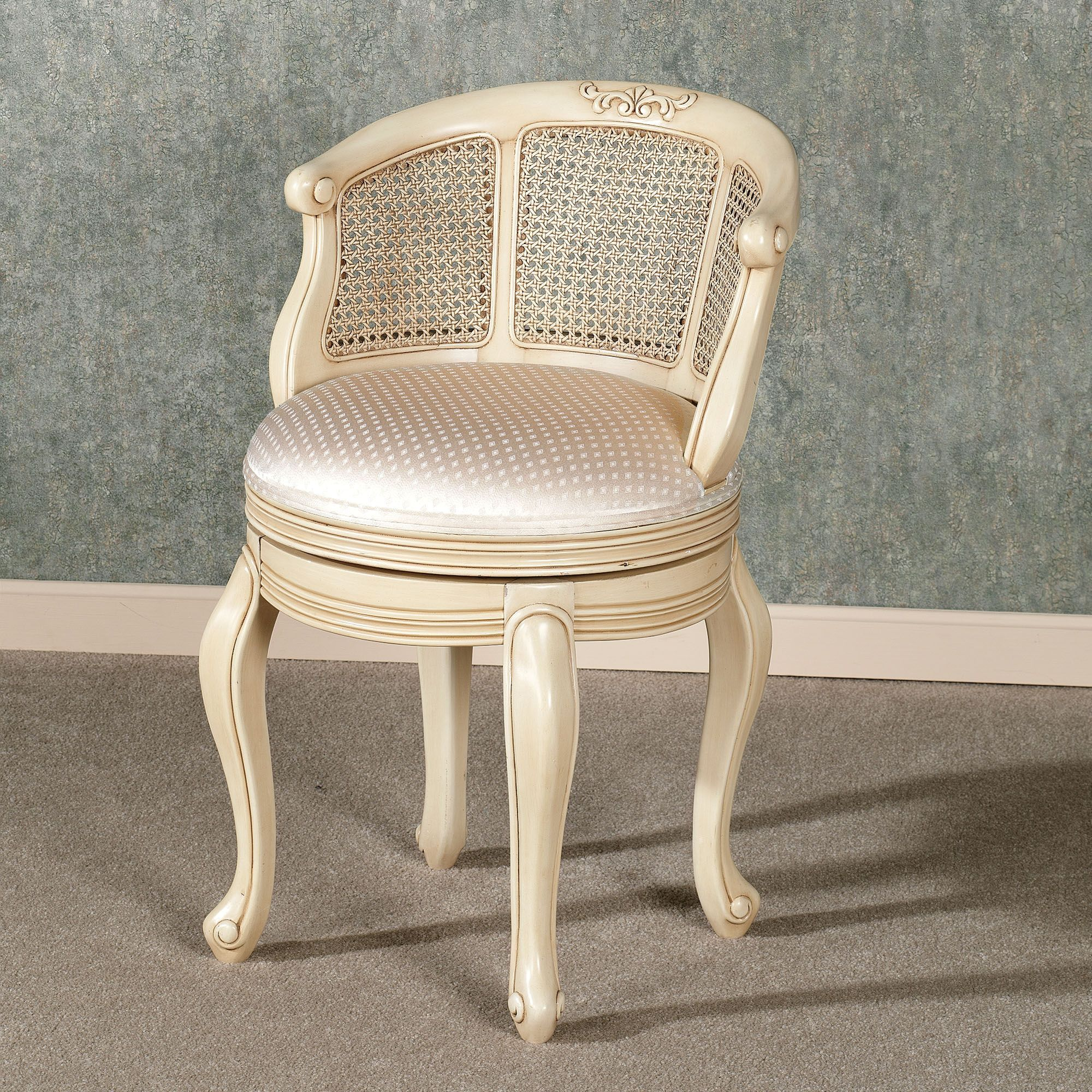Belhurst swivel vanity chair with images shabby chic