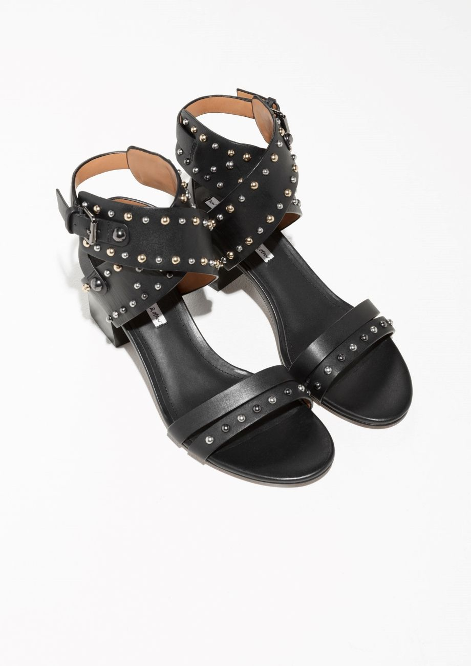 913072fb7095 ... summer espadrilles and sneakers.   Other Stories image 2 of Studded  Sandalette Pumps in Black