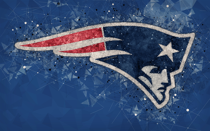 Download wallpapers New England Patriots, 4k, logo