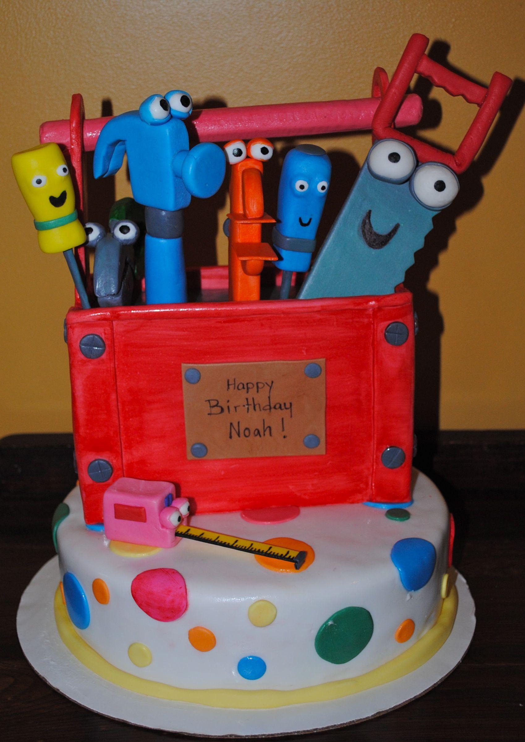 Handy Manny tool Cake I made for a boys 2nd Birthday # ...