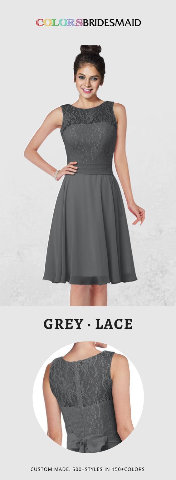 Colsbm helen grey bridesmaid dresses pinterest lace bodice