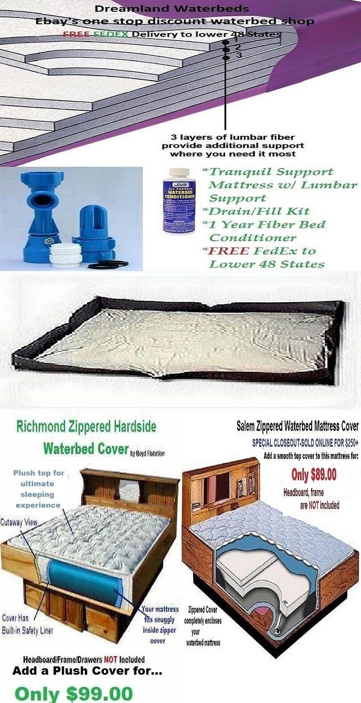 bed and waterbed accessories 66737 queen 99 waveless lumbar