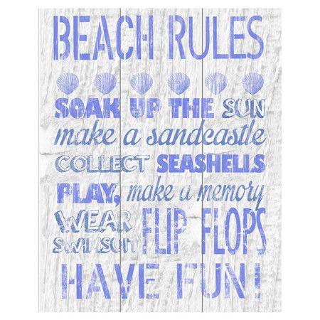 Vacation Rules I Canvas Giclee Print at Joss & Main
