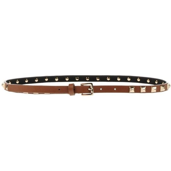 studded buckle belt - Brown Pinko