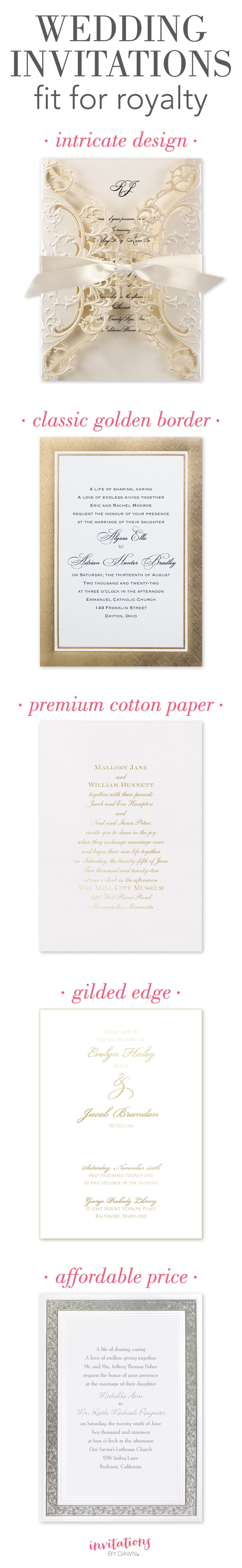 Wedding Invitations Fit for Royalty | Pinterest | Royal wedding ...