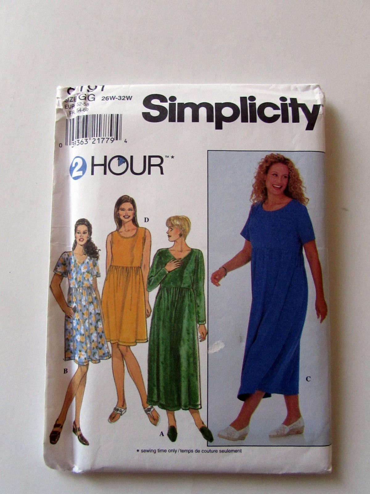 Easy Simplicity Plus Size Woman\'s Pullover Knit Dress Pattern 8191 ...