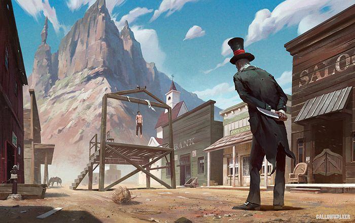 Digital Art Illustrations By Nikolai Litvinenko Heydesign Com Digital Art Illustration Old West Town Art