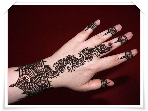 Moon Mehndi Liberty : 35 best mehandi designs for back side of the hand stylishwife