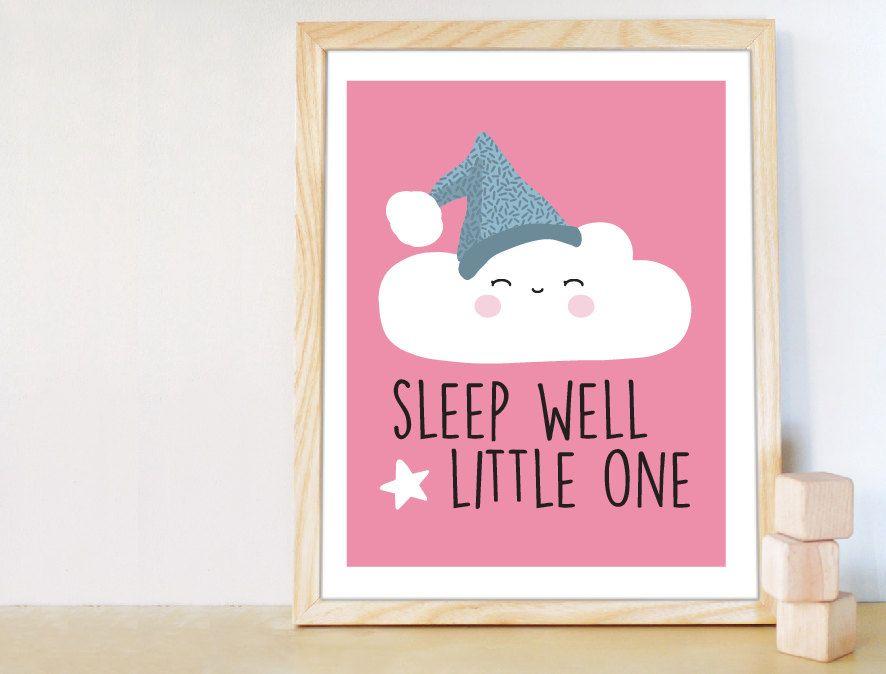 Sleep Well Little One Digital Art Baby Par Melimedesignstudio Baby Nursery Decor Nursery Decor Modern Nursery Decor